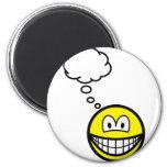 Thinking smile   fridge_magents_magnet