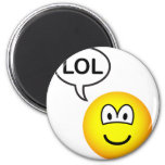 LOL emoticon  laugh(ing) out loud fridge_magents_magnet