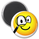 Magnifying glass emoticon Looking through  fridge_magents_magnet