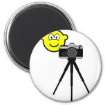 Camera buddy icon with tripod  fridge_magents_magnet