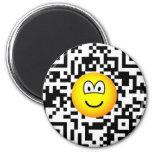 Qr Code emoticon 2D barcode  fridge_magents_magnet