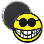 Sunglasses smile Round  fridge_magents_magnet