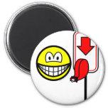 Queueing smile take a number  fridge_magents_magnet