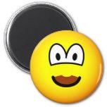 Chocolate mustache emoticon   fridge_magents_magnet