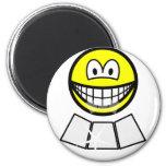 Face sun reflector smile   fridge_magents_magnet