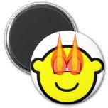 Flaming eyes buddy icon   fridge_magents_magnet