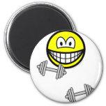 Dumbbells smile Free weight training  fridge_magents_magnet