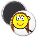 Hair straightening buddy icon   fridge_magents_magnet
