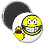 Rubber duck smile playing  fridge_magents_magnet