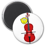 Contra bass playing buddy icon   fridge_magents_magnet