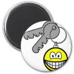 Key ring chain smile   fridge_magents_magnet