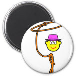 Cowgirl buddy icon lasso  fridge_magents_magnet
