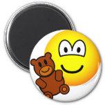 Teddy bear toy emoticon   fridge_magents_magnet