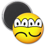 Two faced emoticon   fridge_magents_magnet