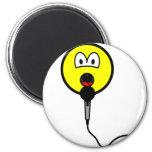 Singing smile microphone  fridge_magents_magnet