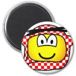 Jordan head cap emoticon   fridge_magents_magnet