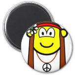 Hippie buddy icon   fridge_magents_magnet