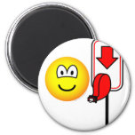 Queueing emoticon take a number  fridge_magents_magnet