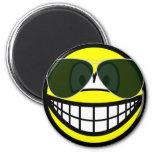 Aviators smile Sunglasses   fridge_magents_magnet