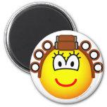 Curling emoticon Permed  fridge_magents_magnet