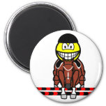 Horse show jumping smile Olympic sport Equestrian fridge_magents_magnet