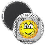 Stamped stamp emoticon   fridge_magents_magnet