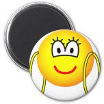 Big hoop earrings emoticon   fridge_magents_magnet