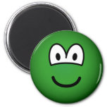Colored emoticon green  fridge_magents_magnet