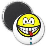 Drooling smile   fridge_magents_magnet