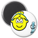 Cinderella buddy icon slipper  fridge_magents_magnet