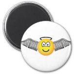 Winged angel with halo emoticon   fridge_magents_magnet
