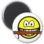 Fetching stick smile Dog  fridge_magents_magnet