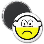 Half empty buddy icon Pessimist  fridge_magents_magnet