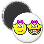 Identical twins buddy icon Girls  fridge_magents_magnet