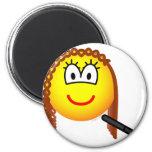 Haar steiltang emoticon   fridge_magents_magnet