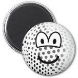Golfball emoticon   fridge_magents_magnet