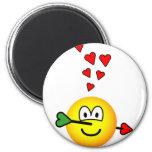 Cupids hit emoticon   fridge_magents_magnet