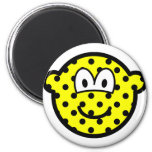 Polka dotted buddy icon   fridge_magents_magnet