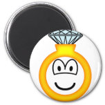 Diamond ring emoticon   fridge_magents_magnet