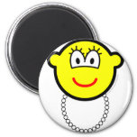 Pearl necklace buddy icon   fridge_magents_magnet