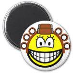 Curling smile Permed  fridge_magents_magnet