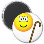 Walking cane emoticon   fridge_magents_magnet
