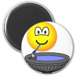 Water fountain emoticon drinking  fridge_magents_magnet