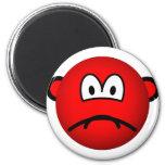 Sad red smile   fridge_magents_magnet