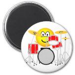 Drumming emoticon Drum kit  fridge_magents_magnet
