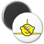Airplane buddy icon Propeller  fridge_magents_magnet