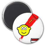 Painting with roller buddy icon   fridge_magents_magnet