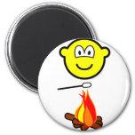 Campfire marshmallow buddy icon   fridge_magents_magnet
