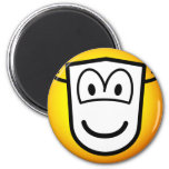 Masked emoticon Theatre  fridge_magents_magnet