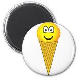 Ice cream emoticon   fridge_magents_magnet